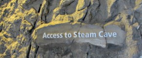 Pointing the way to the Steam Cave