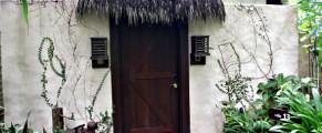 The entry door to Villa 13