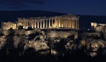 Parthenon Acropolis at night