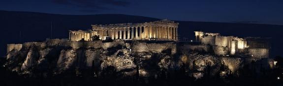 Parthenon Acropolis at night
