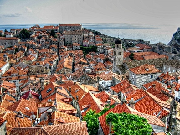 red tiled roofs of Dubrovnik