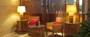 The exclusive check in area for guest in the Rasa Wing