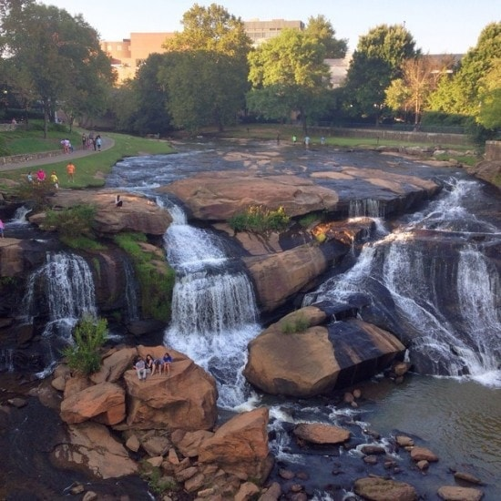 Falls Park on the Reedy River in Greenville, South Carolina