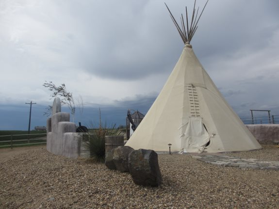 Teepee accommodations at Cherry Wood