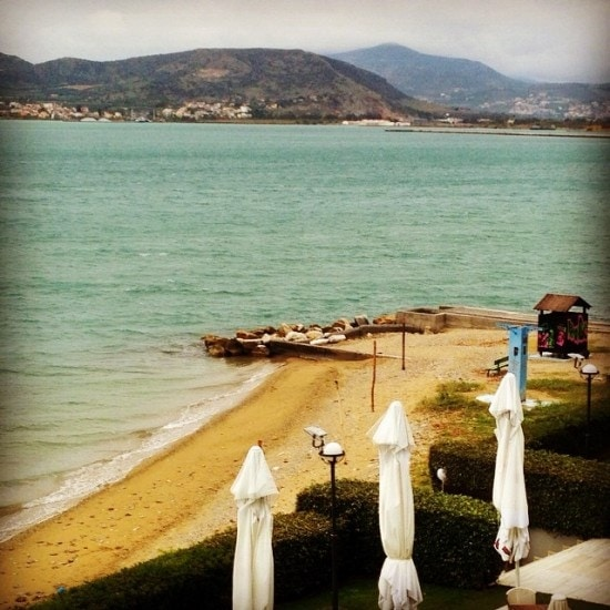 The sea in Volos Greece
