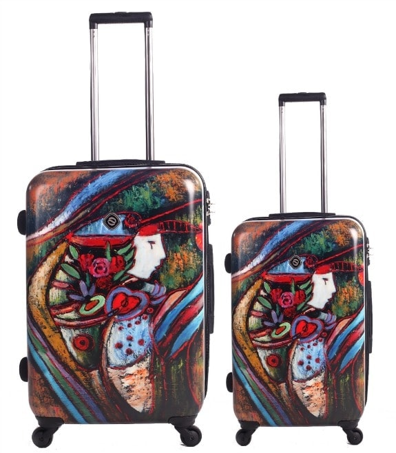 art inspired neo-cover luggage