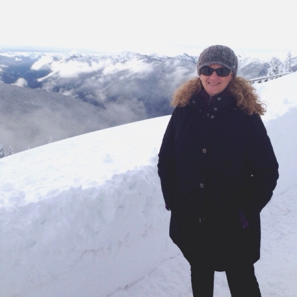 MJ in snow at hurricane ridge, washington