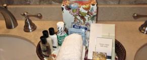 Bathroom amenities at The Kimberly NYC