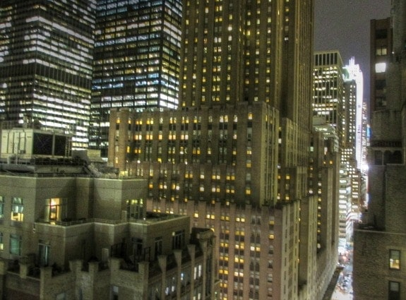 View from the balcony at The Kimberly NYC