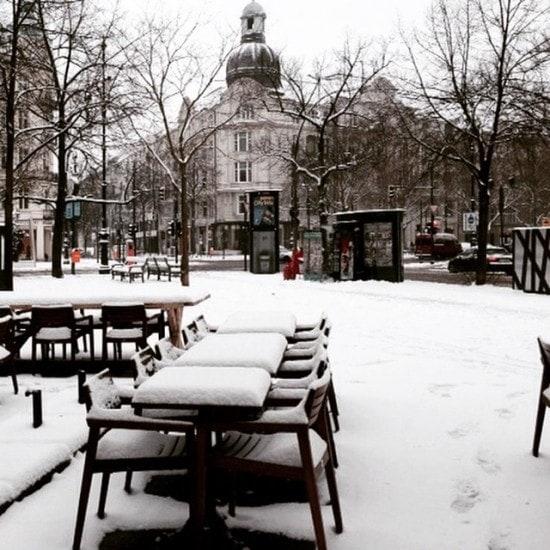 A snowy day in Berlin