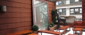 It was snowing when I visited, but the Rooftop Garden at Hotel Giraffe would be perfect in warmer weather