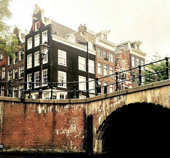 Cruising along the canals in Amsterdam