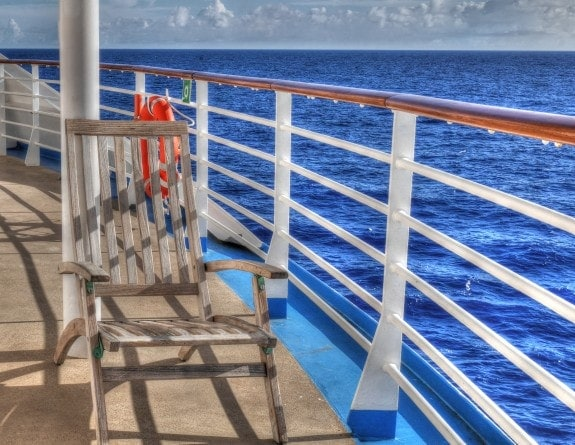 chair on aft deck