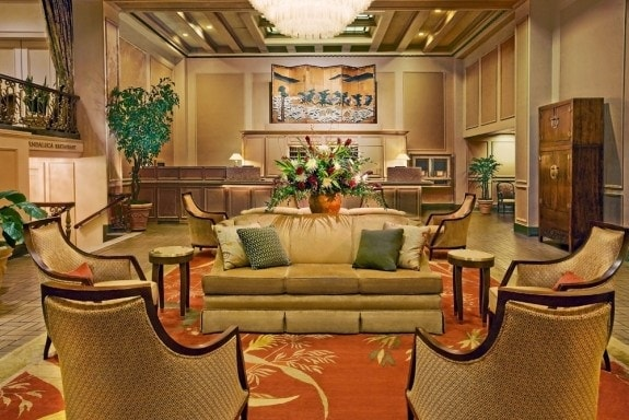 Mayflower Park Hotel lobby, Seattle