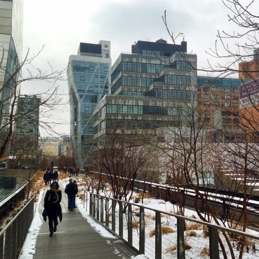 Walking the Highline in New York City