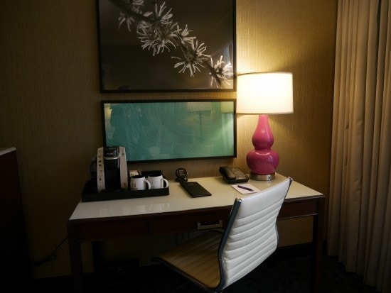 workspace in room at motif seattle