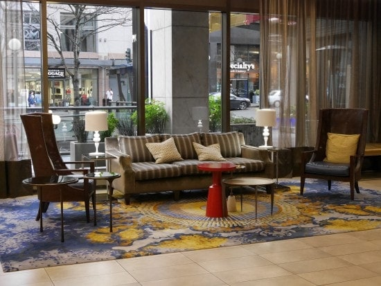 lobby at motif seattle
