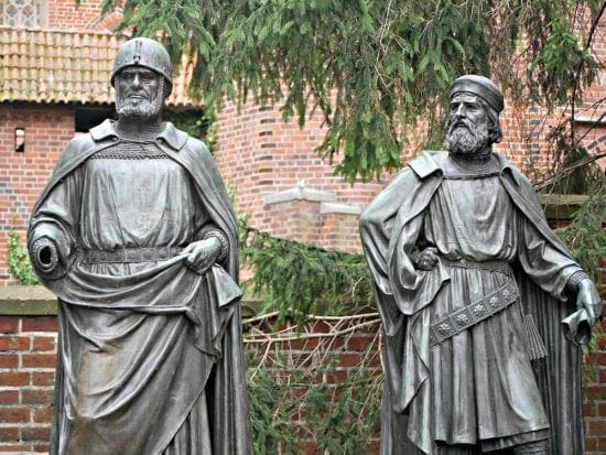 A couple of Teutonic knights, you can see them when you visit Malbork Castle in Poland