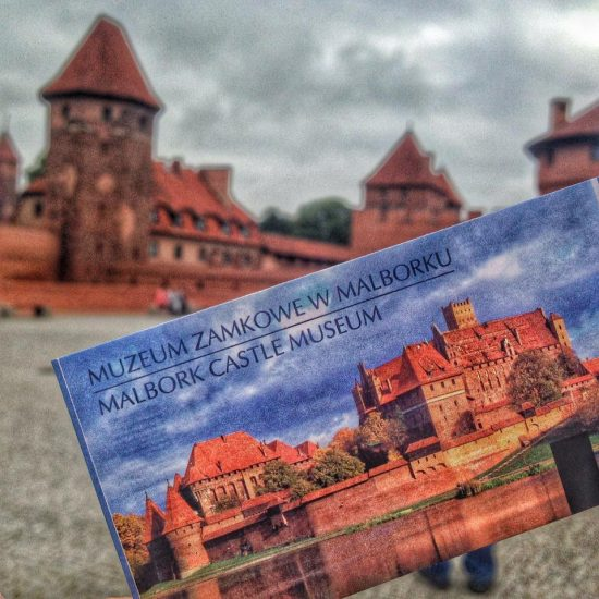 ticket for visiting malbork castle in poland