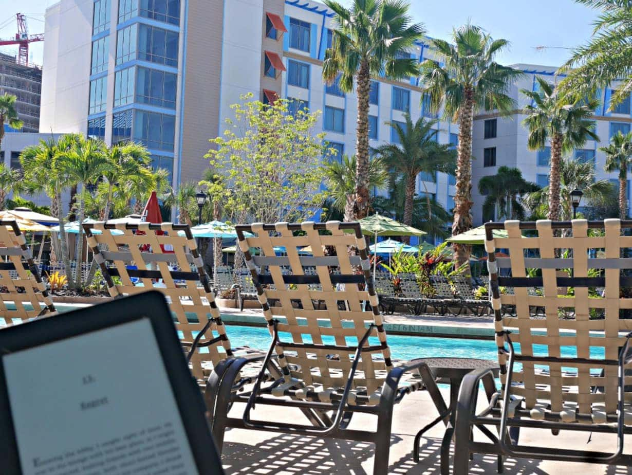 reading by pool sapphire falls uor