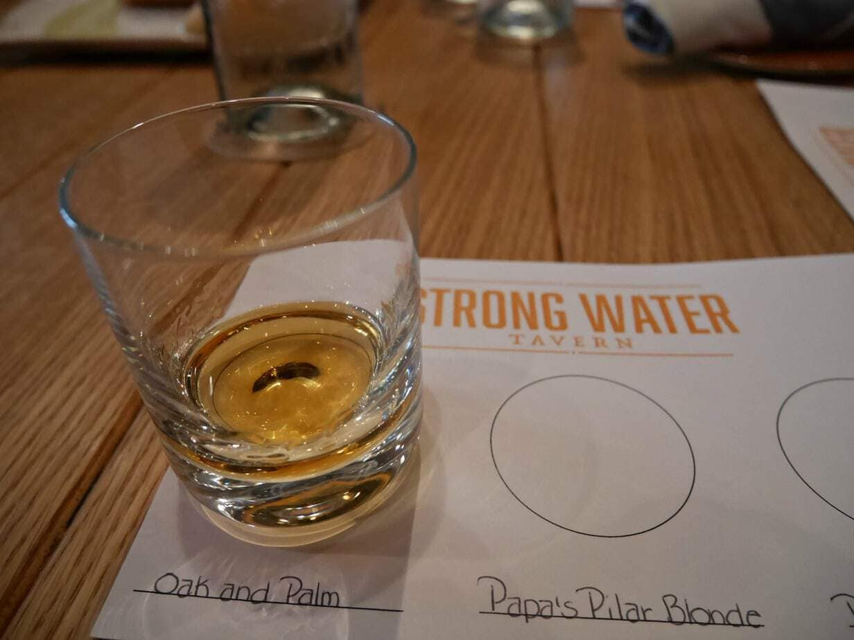 rum tasting at strong water UOR