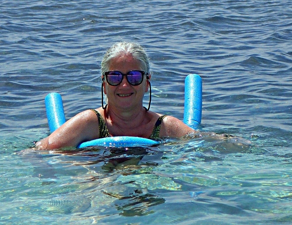 mary jo in water