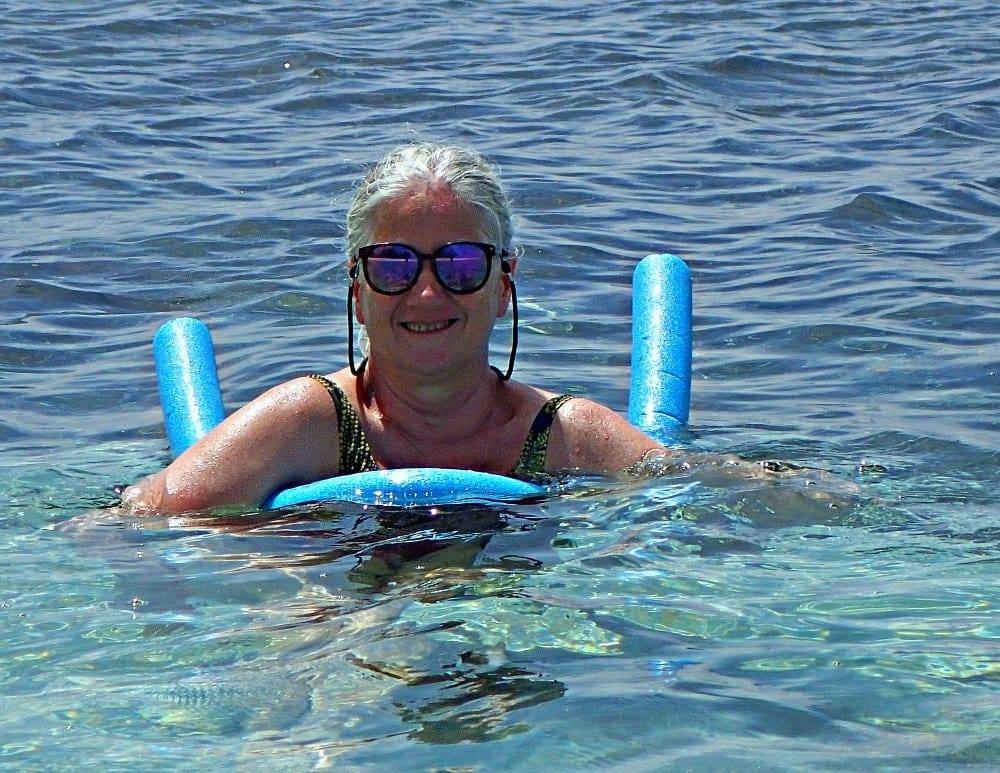 mary jo in water