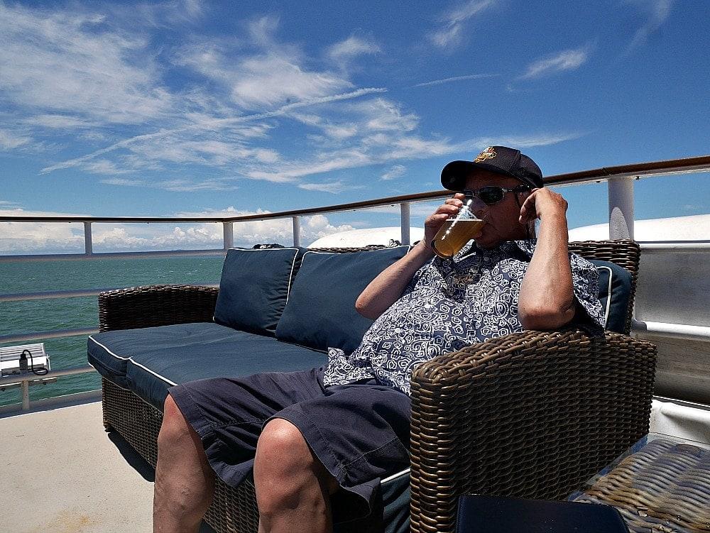 tony on sun deck