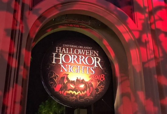 signage for Halloween Horror Nights 2018