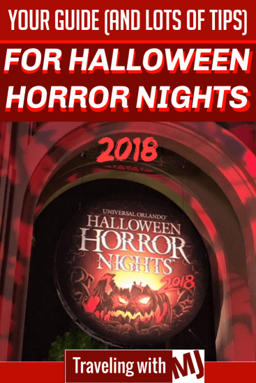 entrance to Halloween Horror Nights 2018 at universal orlando resort