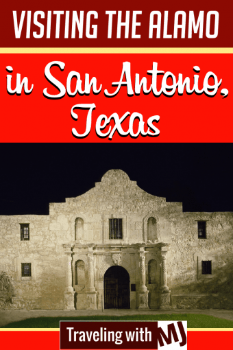 exterior photo of the alamo at night