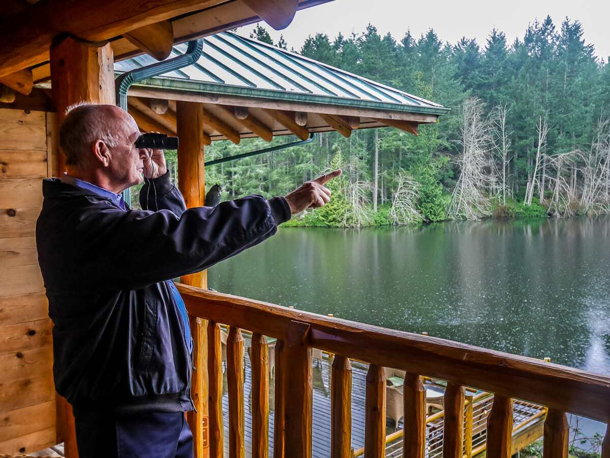 bird watching at Lakedale Resort Friday Harbor