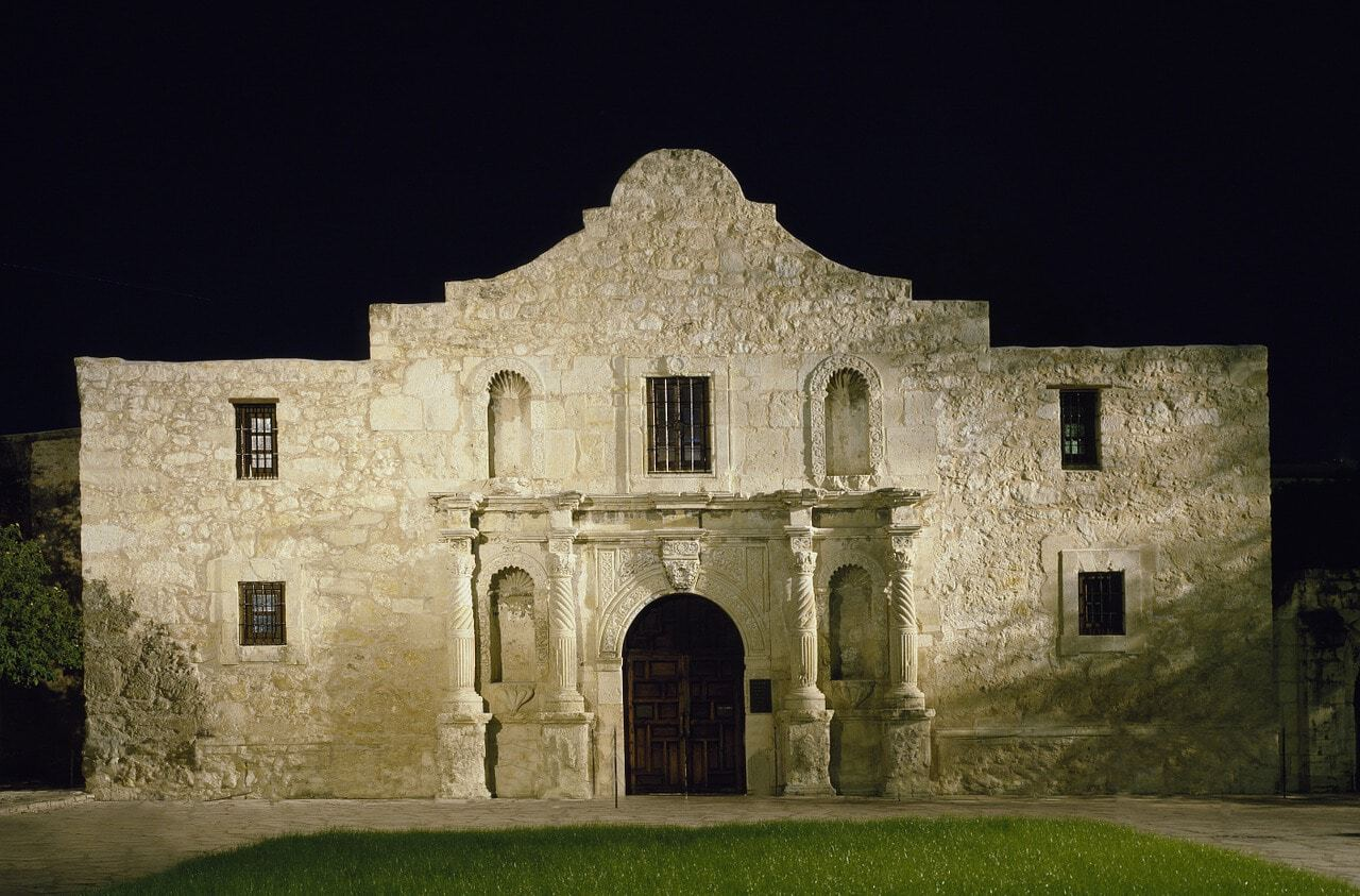 exterior view of Alamo