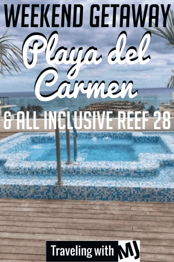 hot tub on deck of all inclusive reef 28 in playa del carmen mexico
