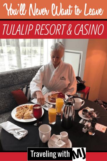 Room service breakfast at Tulalip Resort and Casino