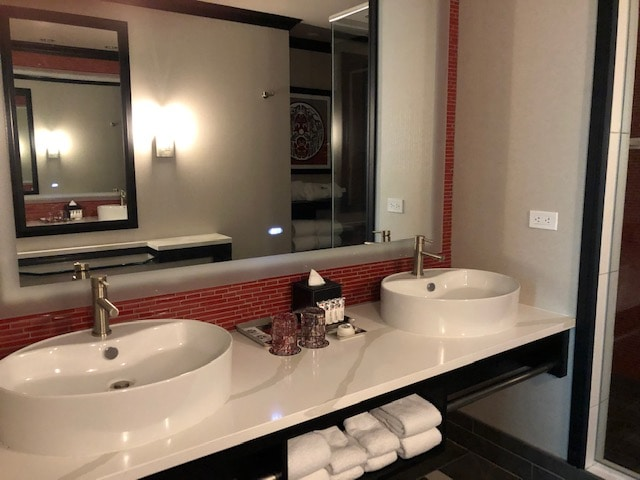 Bathroom with luxury amenities at Tulalip Resort and Casino