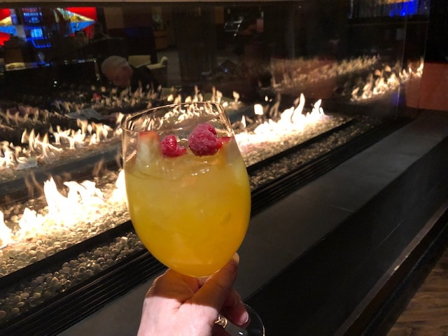 Slurping up a Dorado Sangria at Destinations Lounge at Tulalip Resort near Seattle