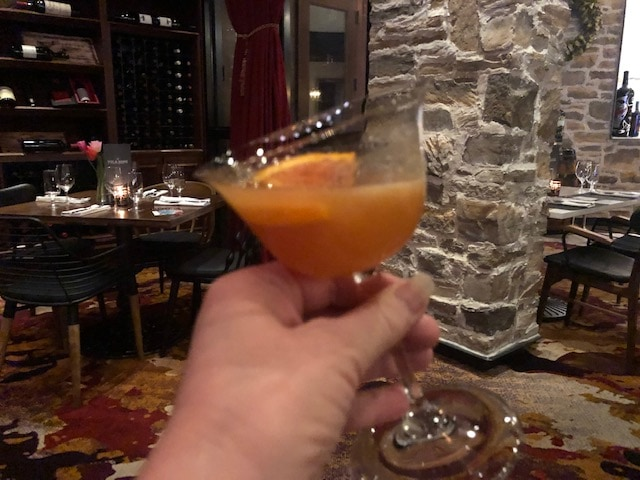 Enjoying a cocktail at Tulalip Resort