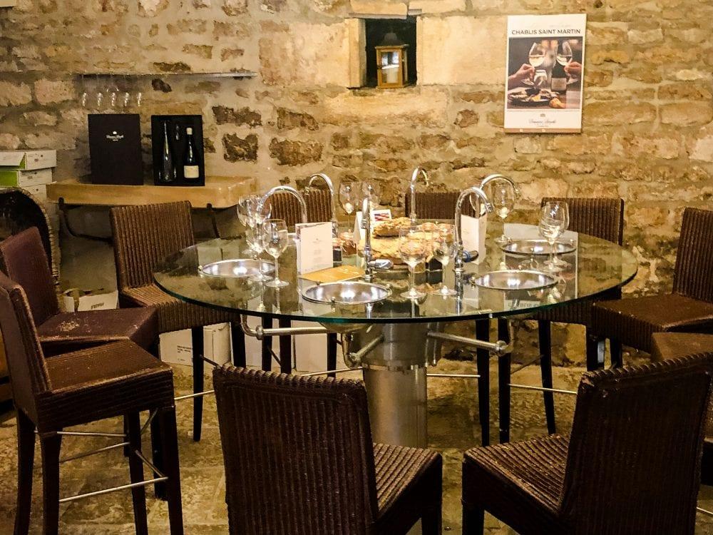 Tasting Chablis at Domaine Laroche