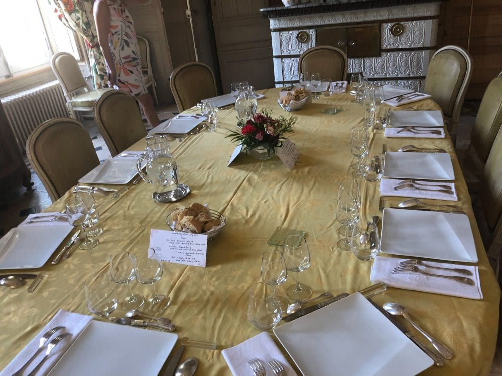 Lunch with the Baron and Baroness at Chateau de Ricey-Bas