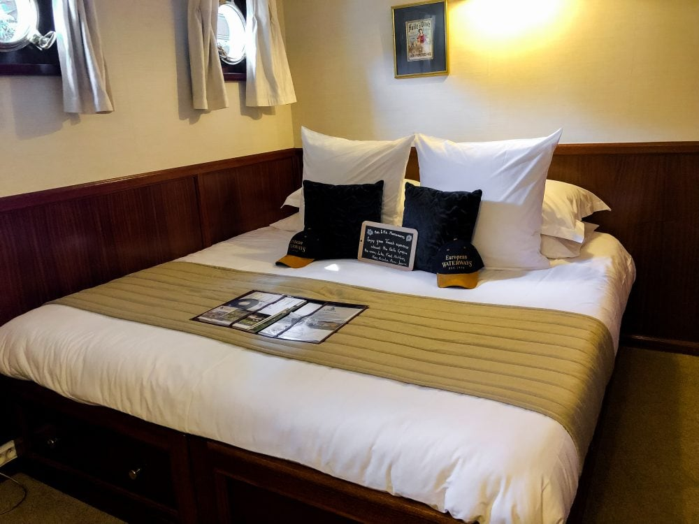 The Satenay cabin on European Waterway's La Belle Epoque, a luxury French barge cruise