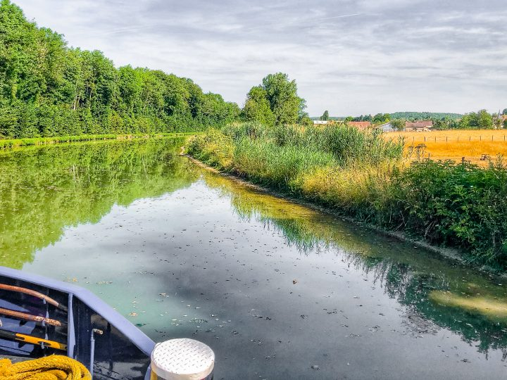 The hotel barge travels very slowly through the canals, around 2-3 miles per hours at max, and only travels during the day when the canal lockmasters are available.