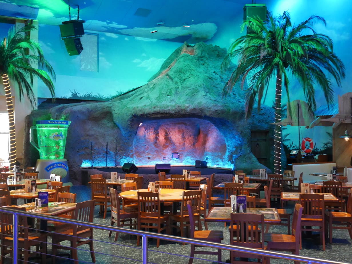 The volcano at Jimmy Buffett's Margaritaville in Tulsa, Oklahoma.