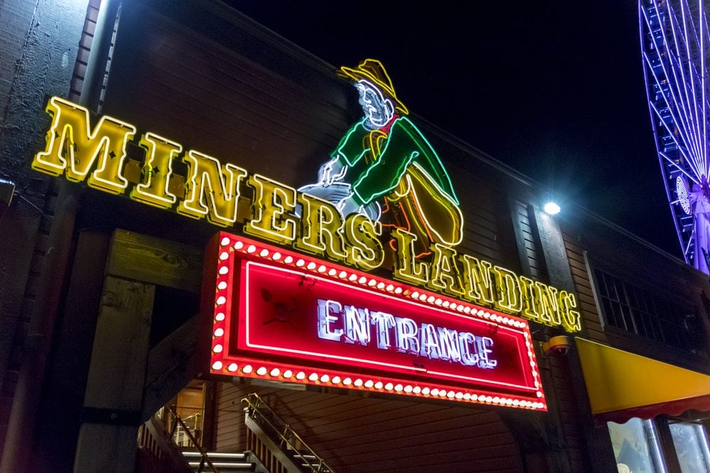 Entrance to Miners Landing on Pier 57 in Seattle.