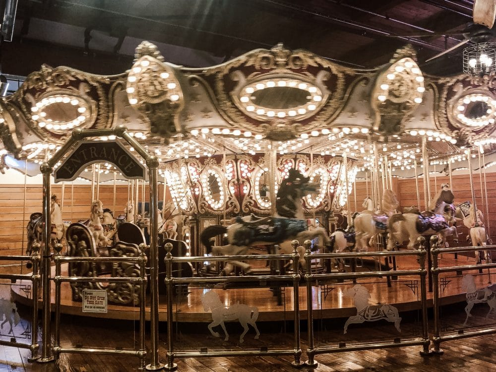 Seattle carousel ride at Miners Landing.