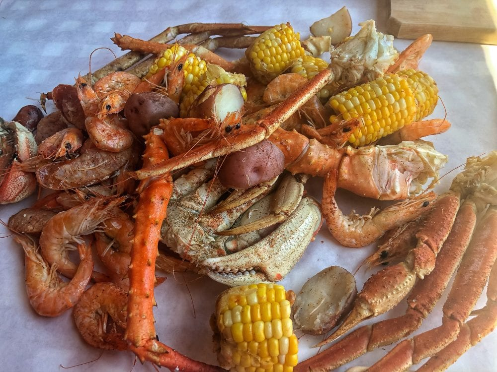 Crab Pot Royal Feast at Miners Landing