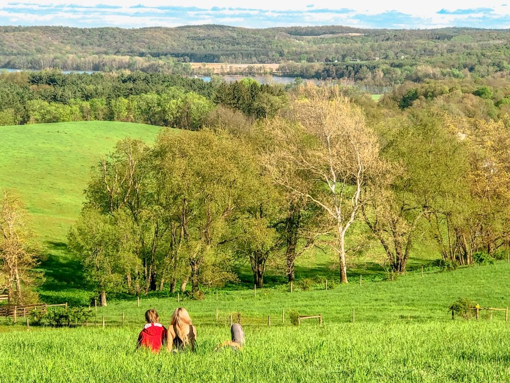grassy hills at malabar farms in ohio
