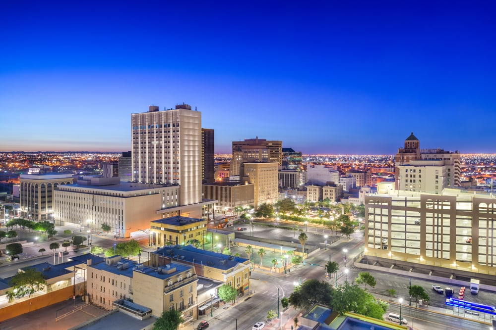 Downtown El Paso Texas skyline