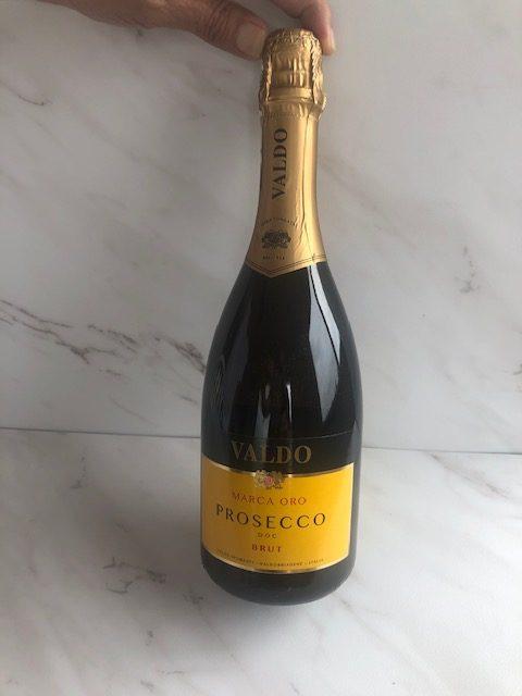 a bottle of prosecco, Valdo Marca Oro Prosecco DOC Brut