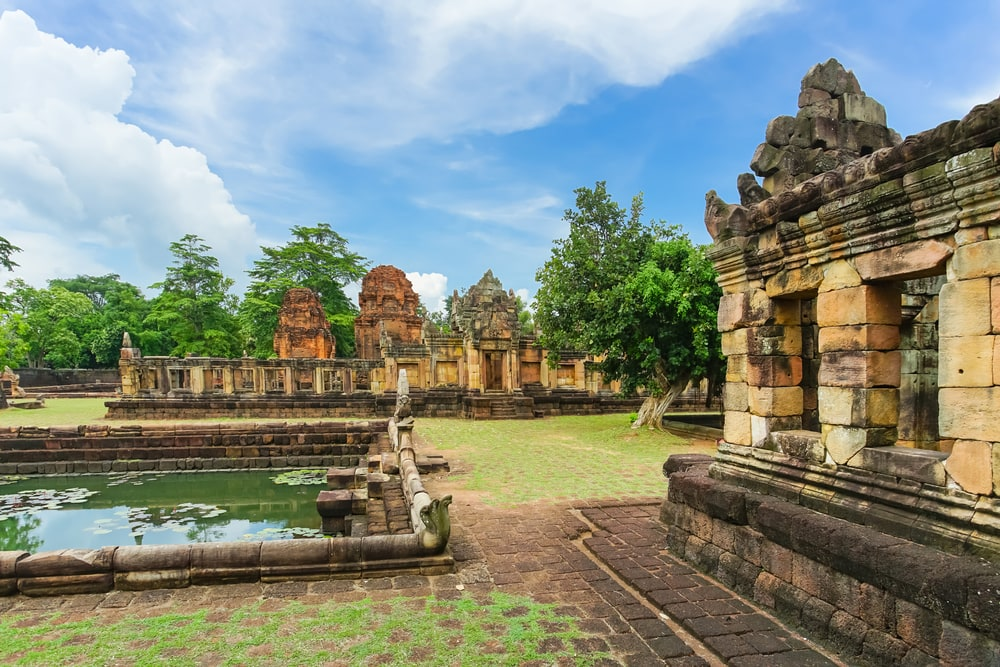 Prasat Muang Tam is the ancient Khmer temple in Prakhon Chai district, Buri Ram Province, Thailand.